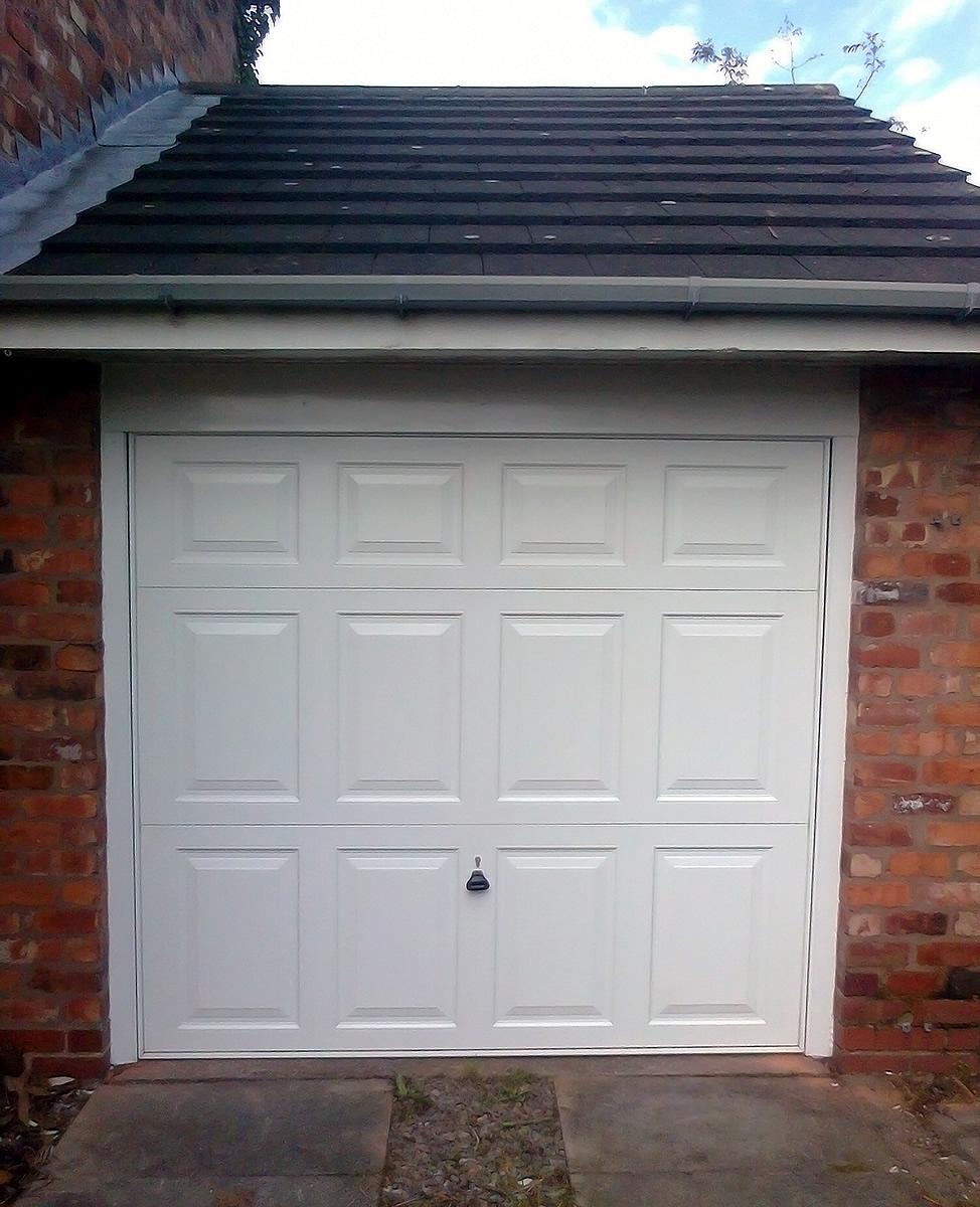 ... Canopy Garage Doors White GRP Up And Over Garage Door