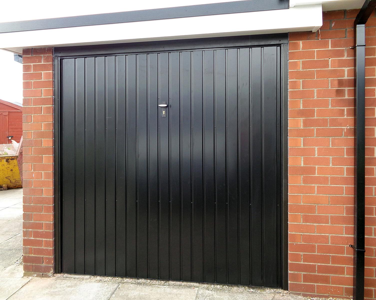 White GRP Canopy Garage Door Black Steel Canopy Garage Door ...